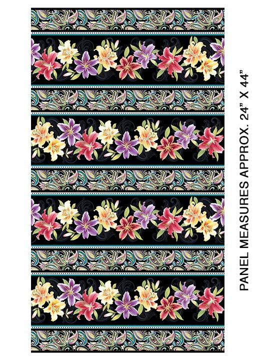 Lily Stripe Black/Multi