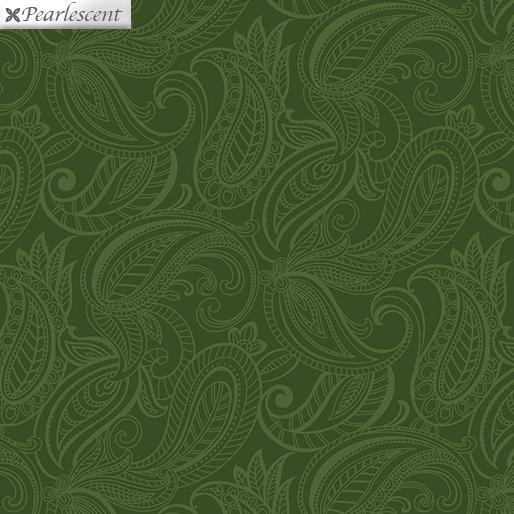Benartex Lilyanne 6725P-45 Pais Lily Tonal Dark Green Pearl