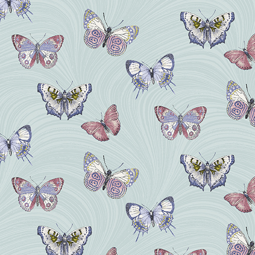 6733-04 Butterfly Wave Light Teal