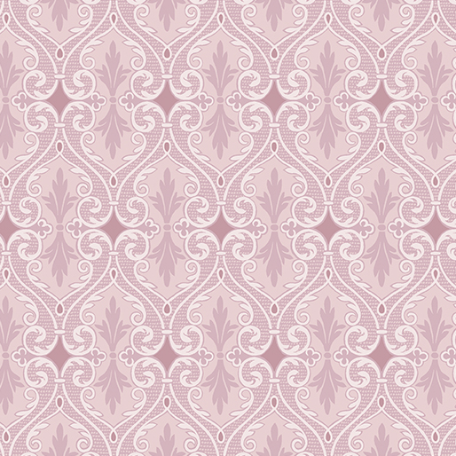 Shimmery Pink Damask: Totally Tulips by Jackie Robinson of Animas Quilts for Benartex