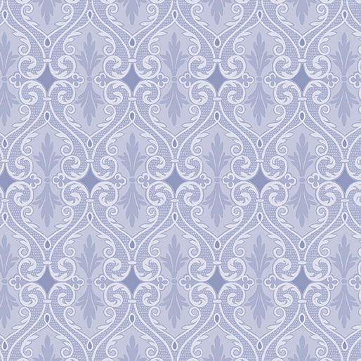 6736P-55 Totally Tulips Damask Periwinkle
