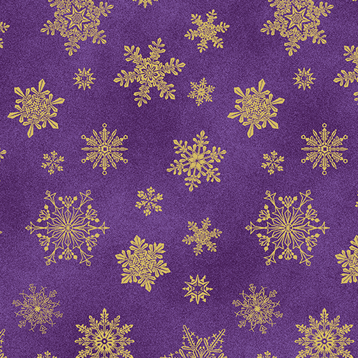 Cat-I-tude Christmas Playful Flakes Purple