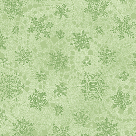 6748-40 Snowflake Spree Mint Cat-I-Tude