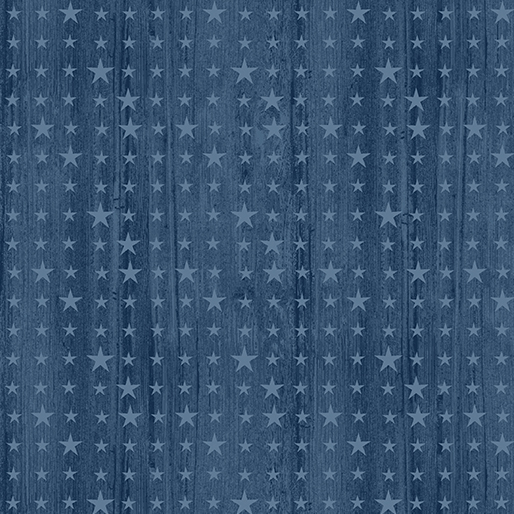 Benartex - Home of the Free-Wooden Stars-Harbor Blue/Sea Blue - 6765-55