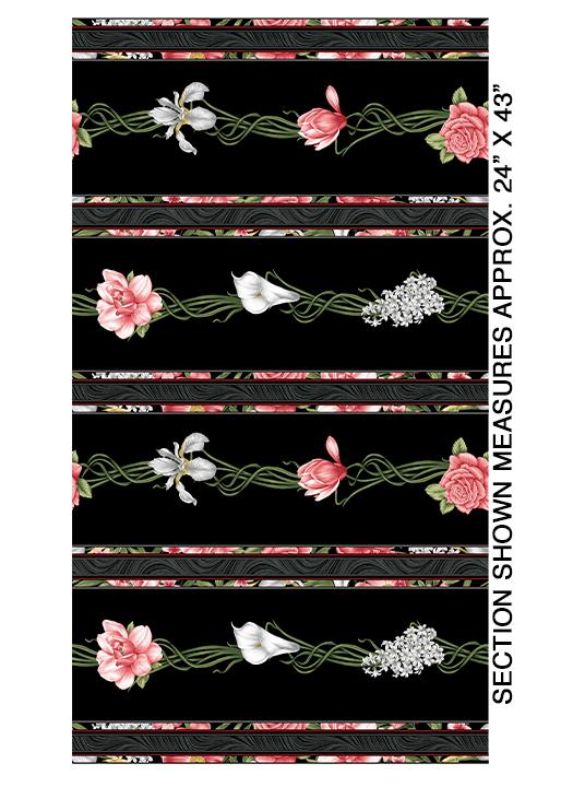 Magnificent Blooms Stripe - 6781-12