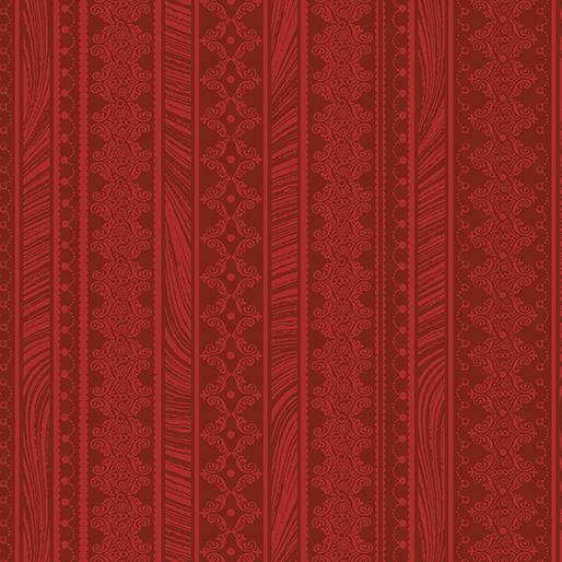 Benartex Nouveau Stripe Red