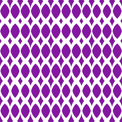 06814 68 Purple Diamond Ovals Gridwork Benartex