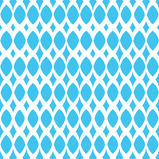 06814 85 Turquoise Diamond Ovals Gridwork Benartex