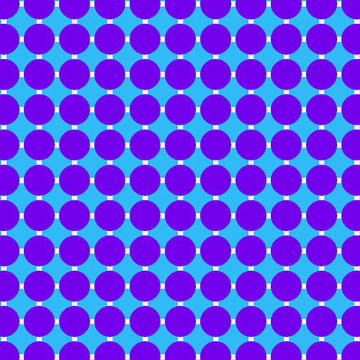 06815 62 Grape/Blue Circle Grid Gridwork Benartex