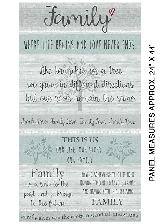Panel Family Grey/Multi  06841 08
