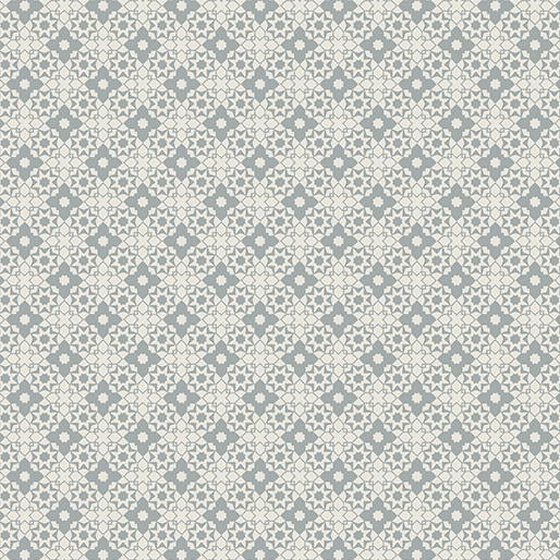 Benartex Contemp Farm Sweet Farm 6842-08 Diamond Geo Grey