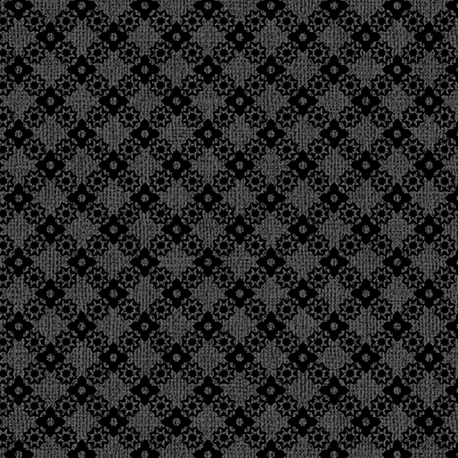Benartex Contemp Farm Sweet Farm 6848-11 Diamond Lattice Charcoal
