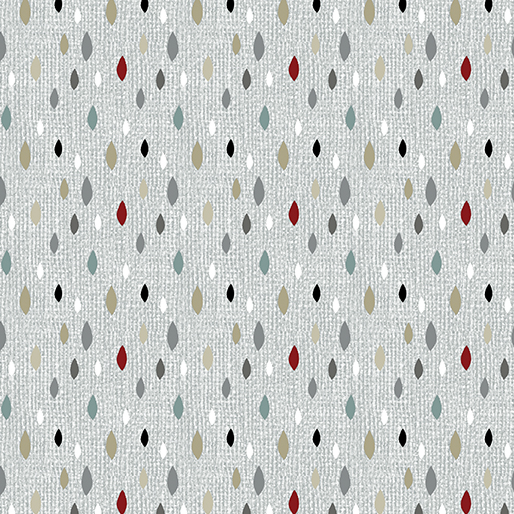 Farm Sweet Farm - Leaf Fleck<br>6849-08 - Grey/Multi
