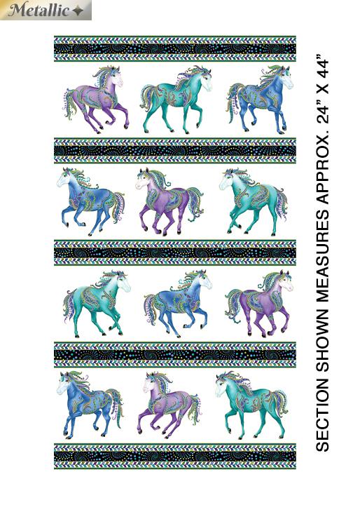 Horsen Around Stripe Wht/Multi
