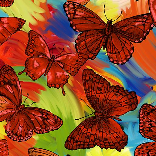 Butterfly Magic Orange/Multi