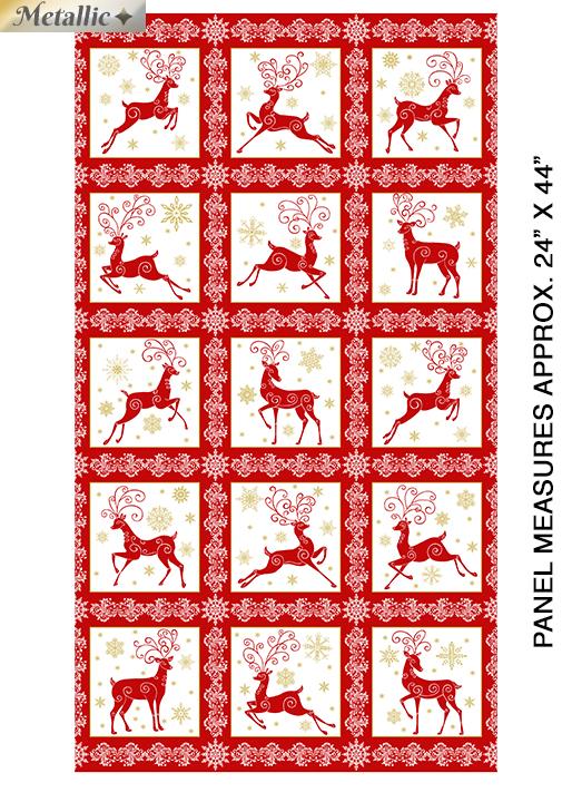 Deer Festival Panel Red