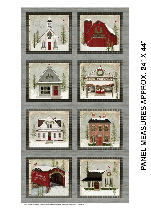 Snow Village Panel Multi 6880-99