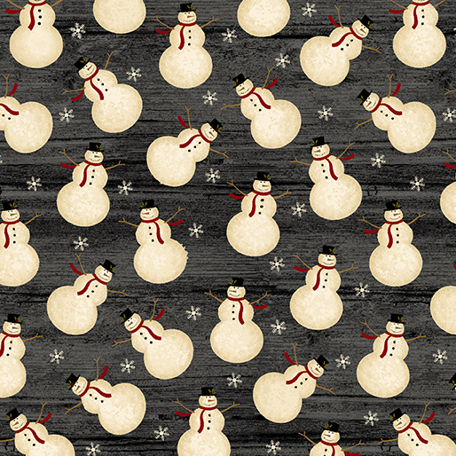 56888-14 Festive Snowman- Gunmetal (20G)