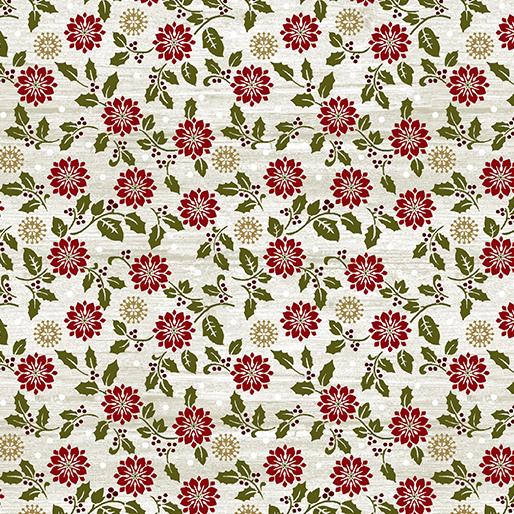 Rustic Poinsettia White Wash 6889-75