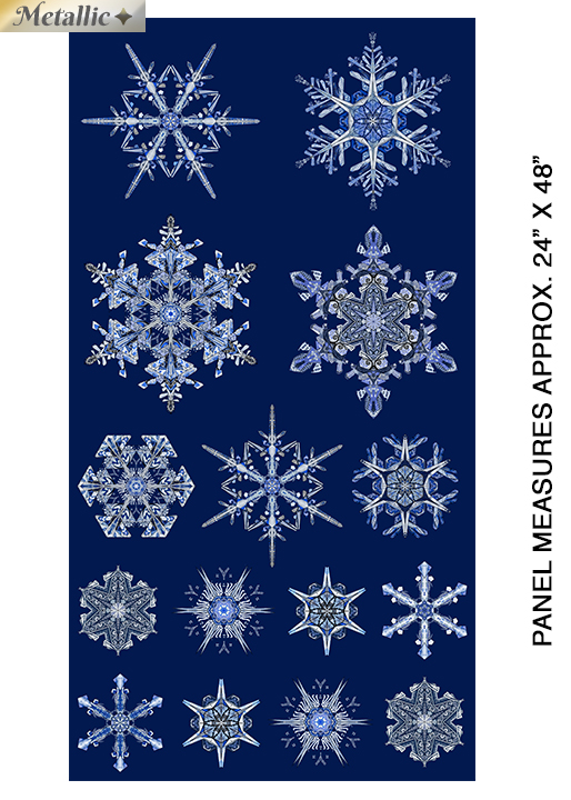 Blue Ice Crystal Panel w/Metallic approx 24inx44in
