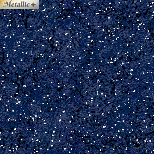 Artful Snowflake - Starry Night Midnight