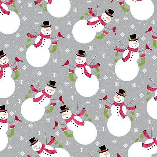 6901-11 Joy Snowman Grey