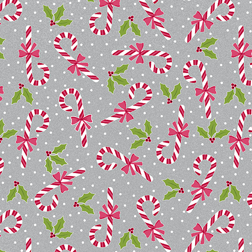 Candy Canes - Grey