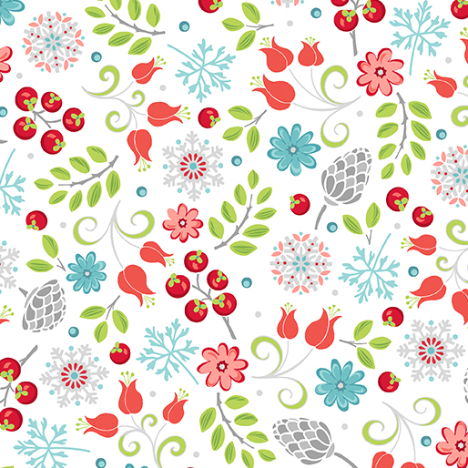 CONTEMPO FIRST FROST Little Floral White 6938-09