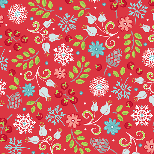 First Frost -- 16938-10 Little Floral Red