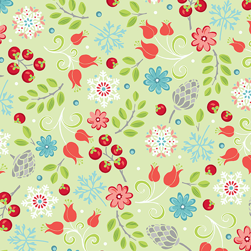 First Frost -- 16938-42 Little Floral Lime