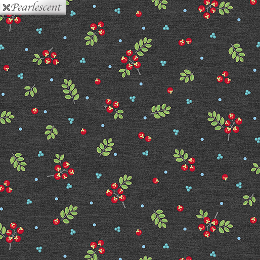 CONTEMPO FIRST FROST Berries Dark Gray 6939P-12