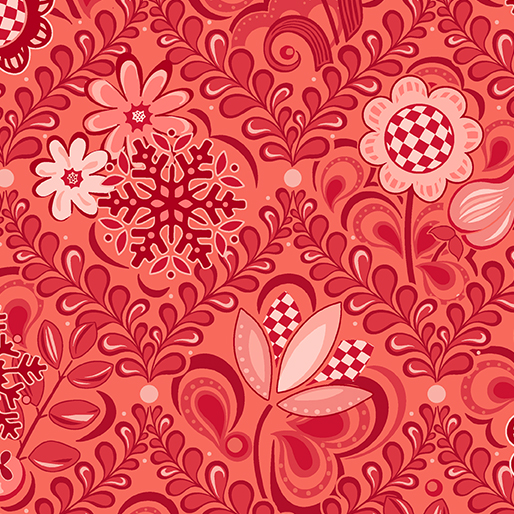 First Frost -- 16943-10 Damask Red