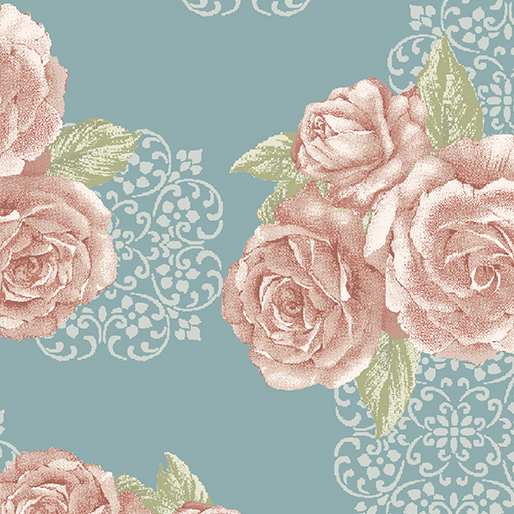 Grandeur Bouquet Teal/Rose