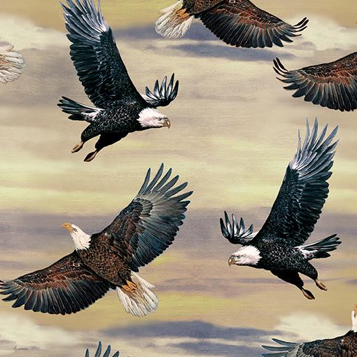 Eagles and Sky Gray/Cream 6988-08