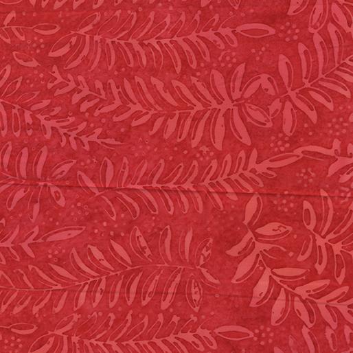 Bali Rio Batik - Thousand Vines Red