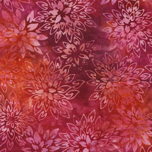 Benartex Berry Delight Balis Color Bloom Bright Berry
