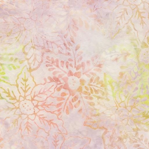 Benartex Winter Whites Balis Floral Wings Pearl