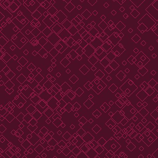 Tonal Squares Raspberry 7549-19