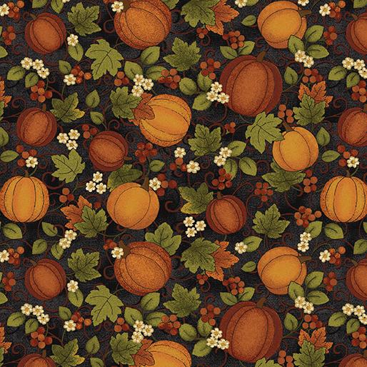 Benartex - Harvest Pumpkin Black/Multi 7562-12