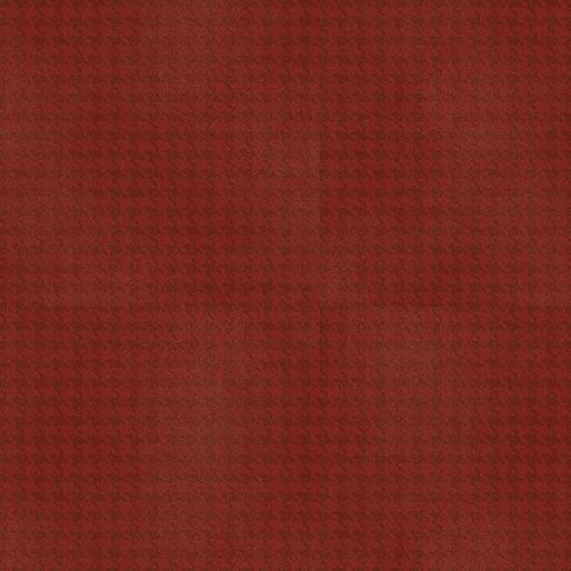 Benartex Harvest Berry 7564-19 Blushed Houndstooth Dark Red