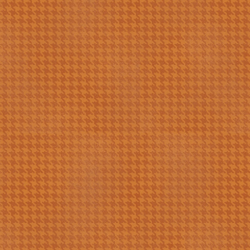 Blushed Houndstooth - Orange