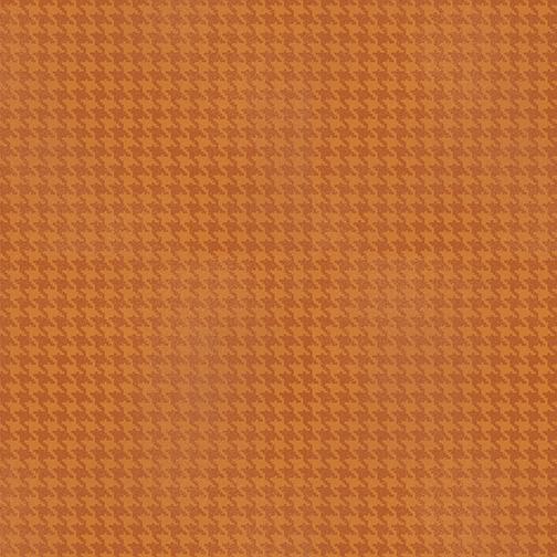 Benartex Harvest Berry 7564-39 Blushed Houndstooth Orange
