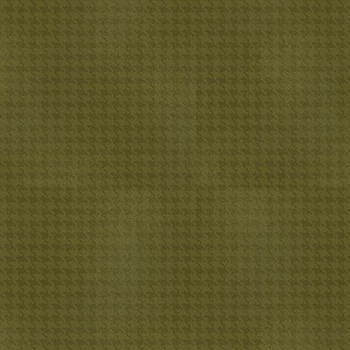 Benartex Harvest Berry 7564-45 Blushed Houndstooth Dark Green