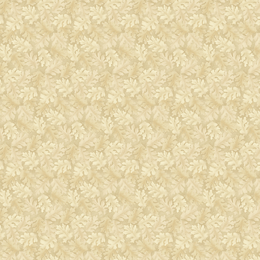 #07 Linen Color - Harvest Berry - Leaves  Fabric