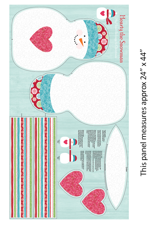 Hearty The Snowman Panel Multi