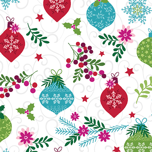 7571 09 Ornament Toss White/Multi Hearty the Snowman Benartex
