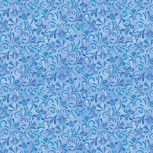 Painterly Swirl Medium Blue