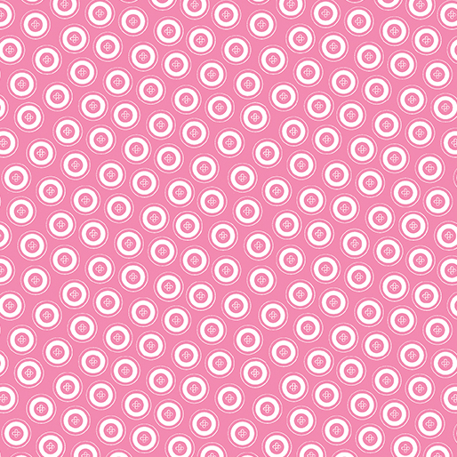 My Happy Place - Dotty Buttons Pink