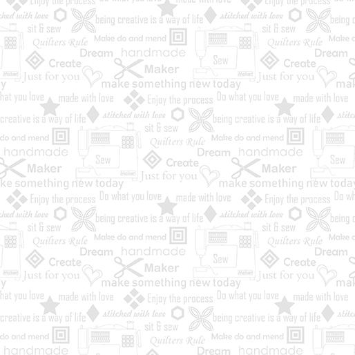 07596 09 Sewers Wisdom White on White for Contempo Studio.  100% cotton 43 wide