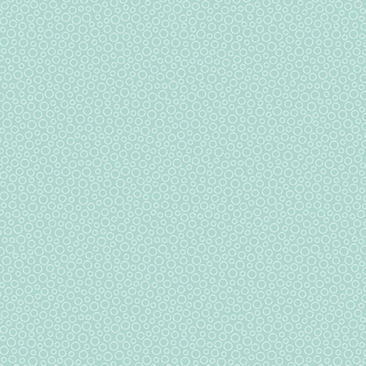 Benartex Contempo 7599-80 Circle Dots Light Turquoise